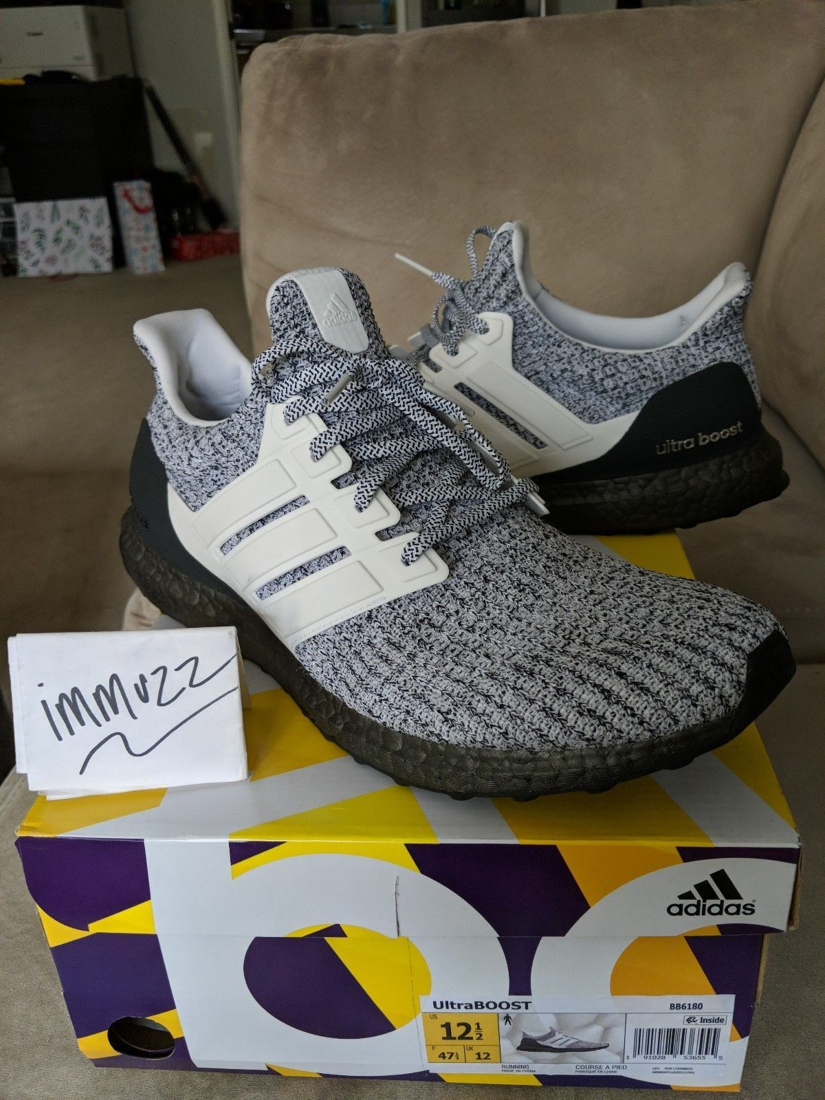 c5cf8b467436b Adidas Ultra BOOST 4.0 Oreo BB6180 Cookies and Cream LTD Men s Size 12.5