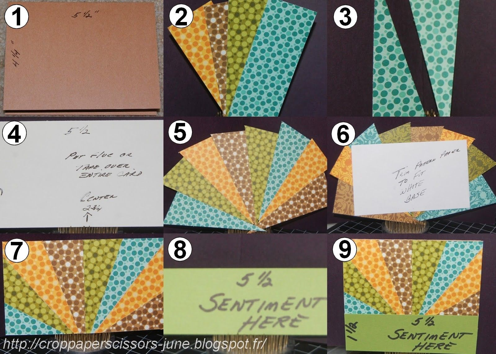 Starburst Card Tutorial And Scrappy Tips Sunburst Cards Card Patterns Cards