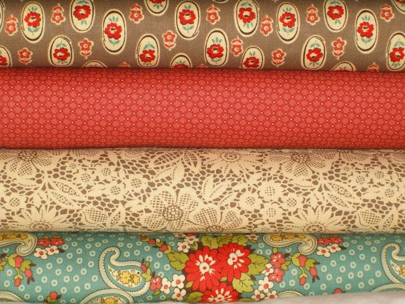 Urban Cowgirl 1/2 Yard Fabric Bundle C by Urban Chiks for Moda