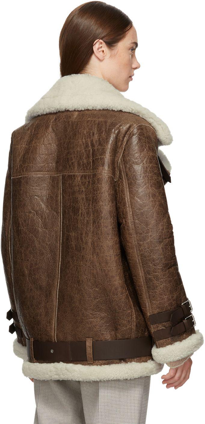 Acne Studios Brown Vintage Velcocité Jacket Sheepskin