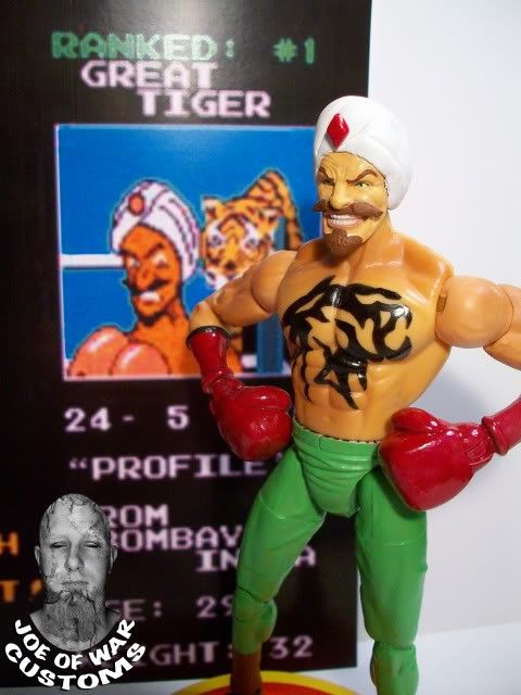 88c3e4da65b00 Custom THE GREAT TIGER Mike Tyson s Punch-Out action figure.  55.00 ...