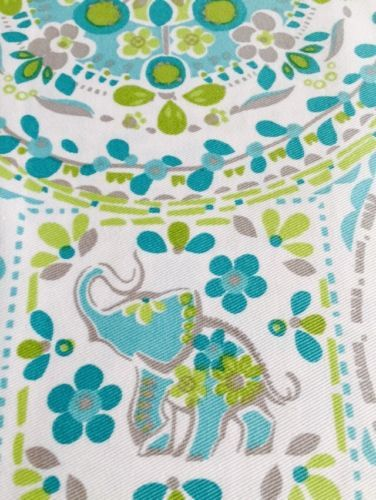 New Cynthia Rowley Happy Elephant Medallion Shower Curtain