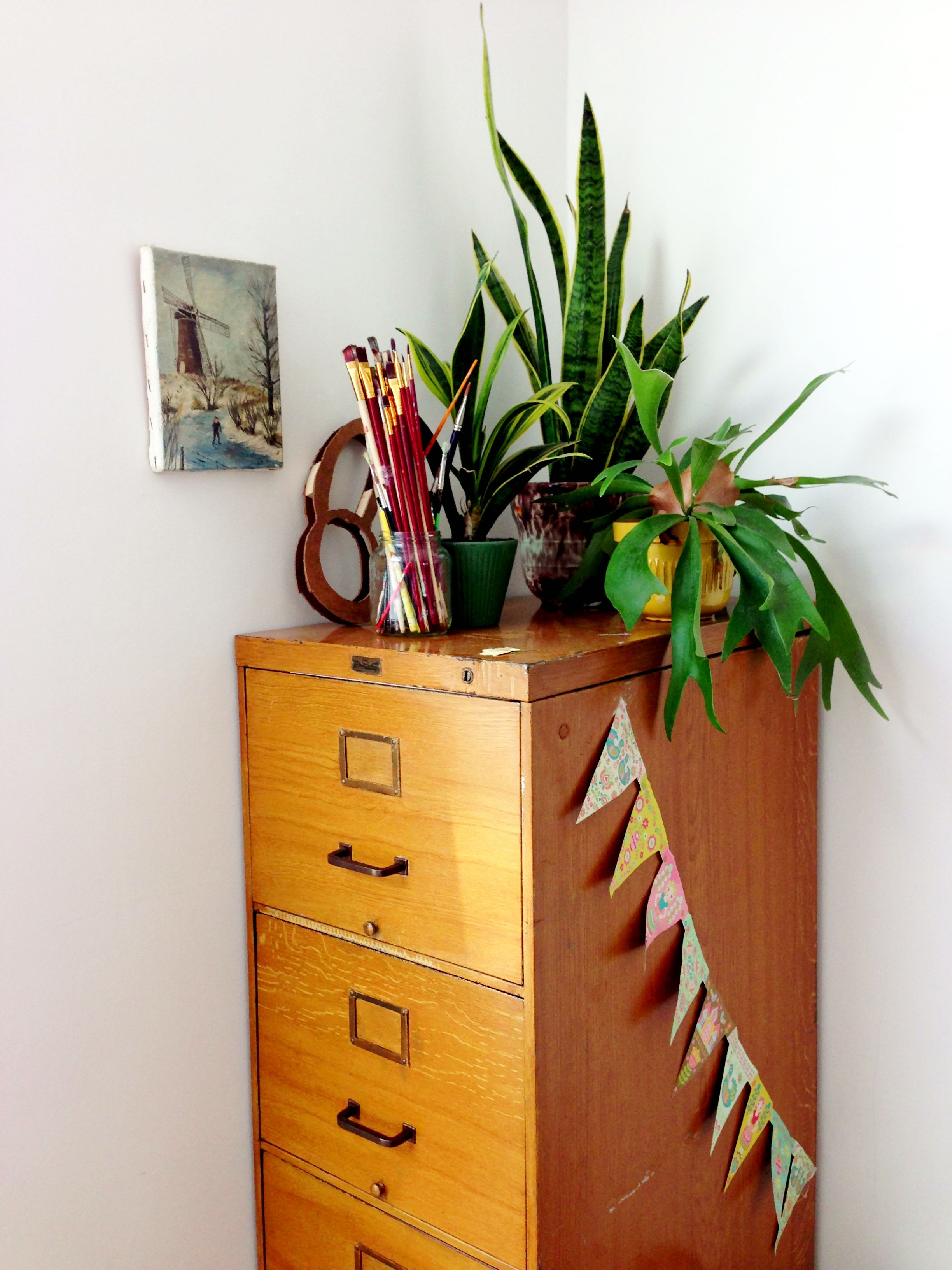 Vintage drawers with little secrets.