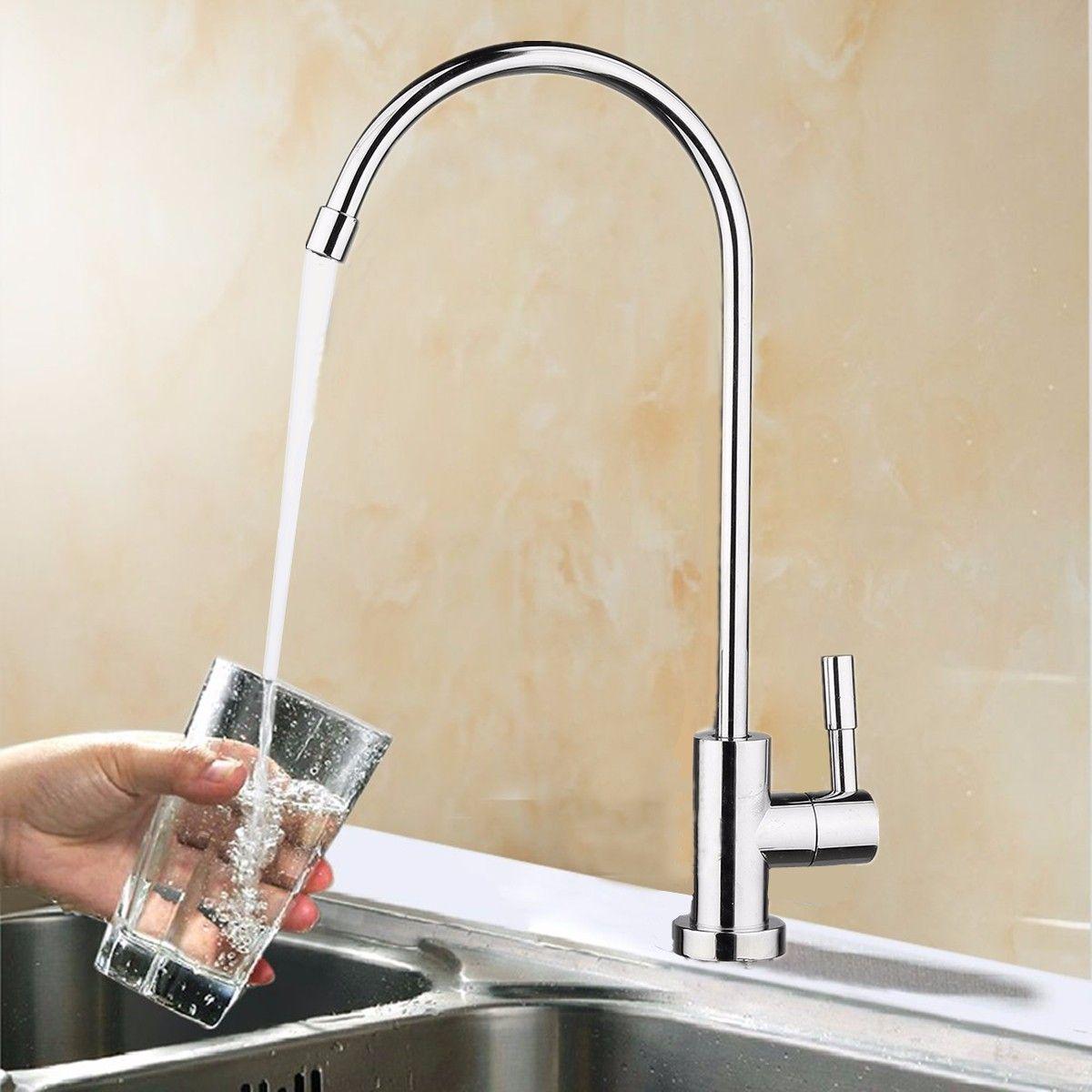 1/4\'\' Reverse Bathroom Kitchen 360 Degree Drinking Water Filter ...