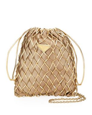 88f6ba7c397a16 Designer Crossbody Bags at Neiman Marcus. V41QW Prada Net Bag With Silk  Interior