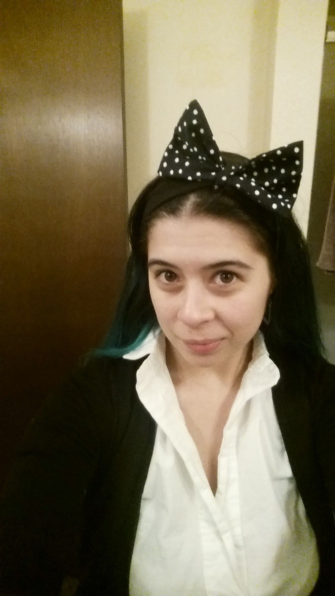 [FO - Sew Not Perfect Knit Bow Headband] I really wanted big bows to go see Sailor Moon R in the theater tonight! #sewing #crafts #handmade #quilting #fabric #vintage #DIY #craft #knitting