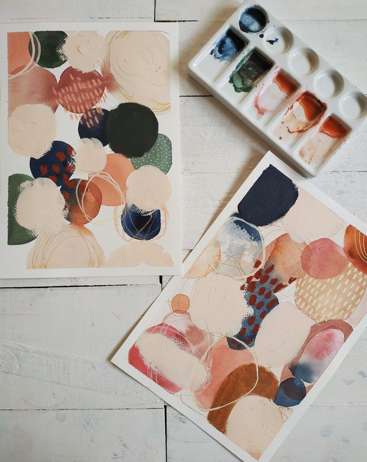 Mixed Media Abstracts #pastelpattern
