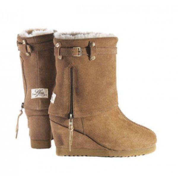Love From Australia Nikita Caramel Wedge Sheepskin Boots feature twin face  sheepskin and are true 'Luxury Sheepskin Chic' These LFA Boots are a style  ...