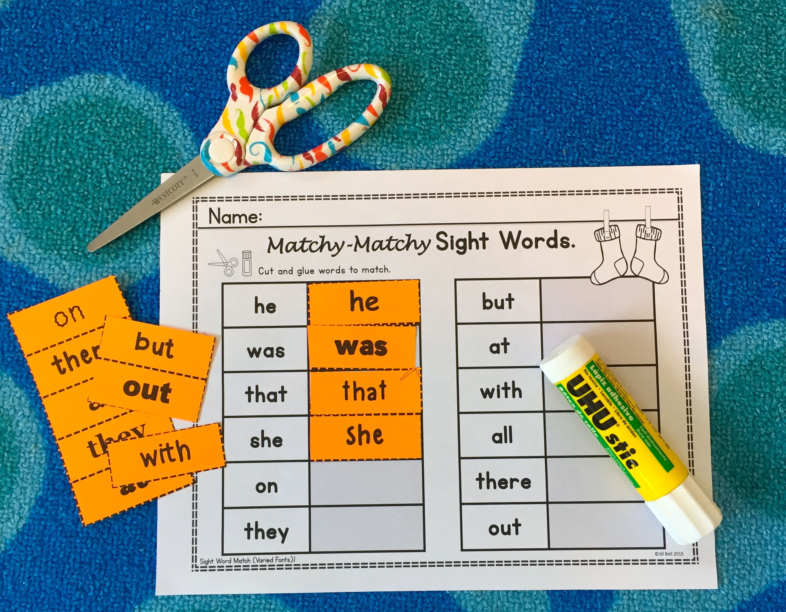 Students Match Sight Words In This Simple And Fun Word Work Center Worksheets Also Included Sight Words Kindergarten Learning Sight Words Sight Word Centers [ 2113 x 2713 Pixel ]