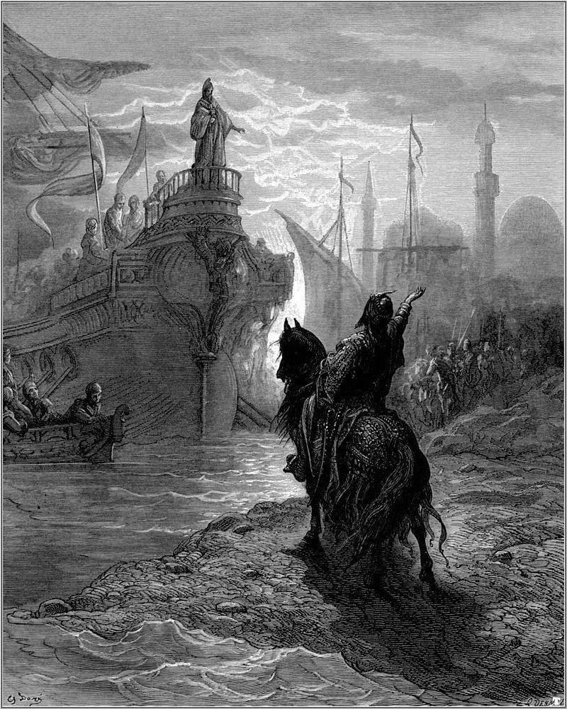 Gustave dore crusades mourzoufle parleying with dandolo - Alessio V Ducas - Wikipedia