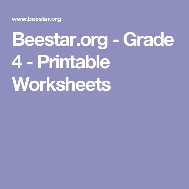 Beestar.org - Grade 4 - Printable Worksheets | Classes | Pinterest ...