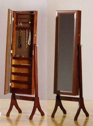 Joyeros de pie con espejo vestidor colecci n fine nogal - Espejo joyero de pie ...