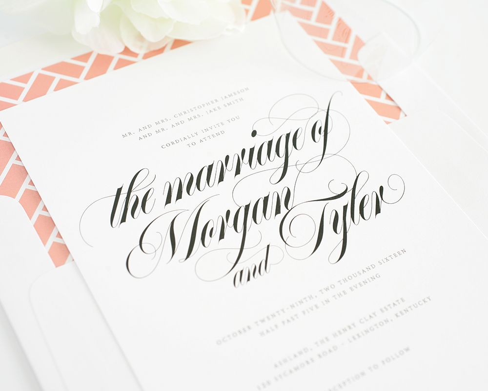 Top 10 Wedding Invitations with Script | Calligraphy and Calligraphy ...
