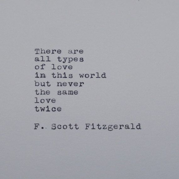 Scott Fitzgerald Quote Typed on Typewriter by #LettersWithImpact