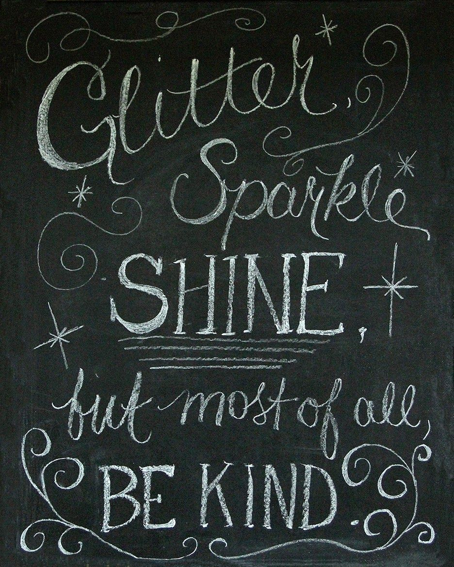 #bekind  Chalkboard Art and Free Printable!