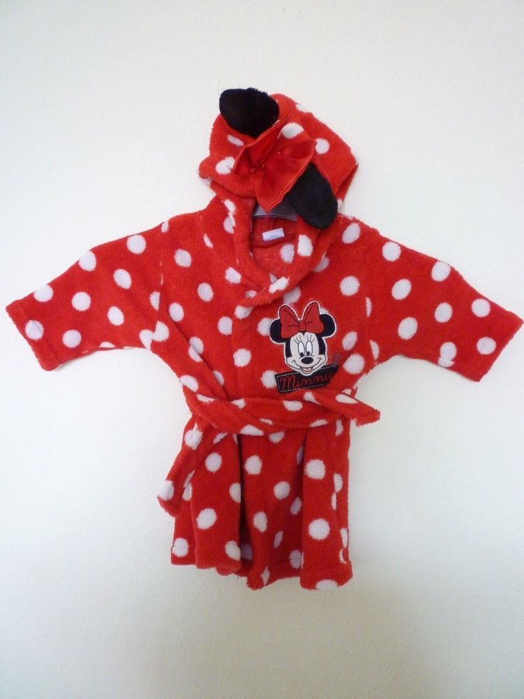 Disney minnie mouse baby dressing gown 03 months fashion