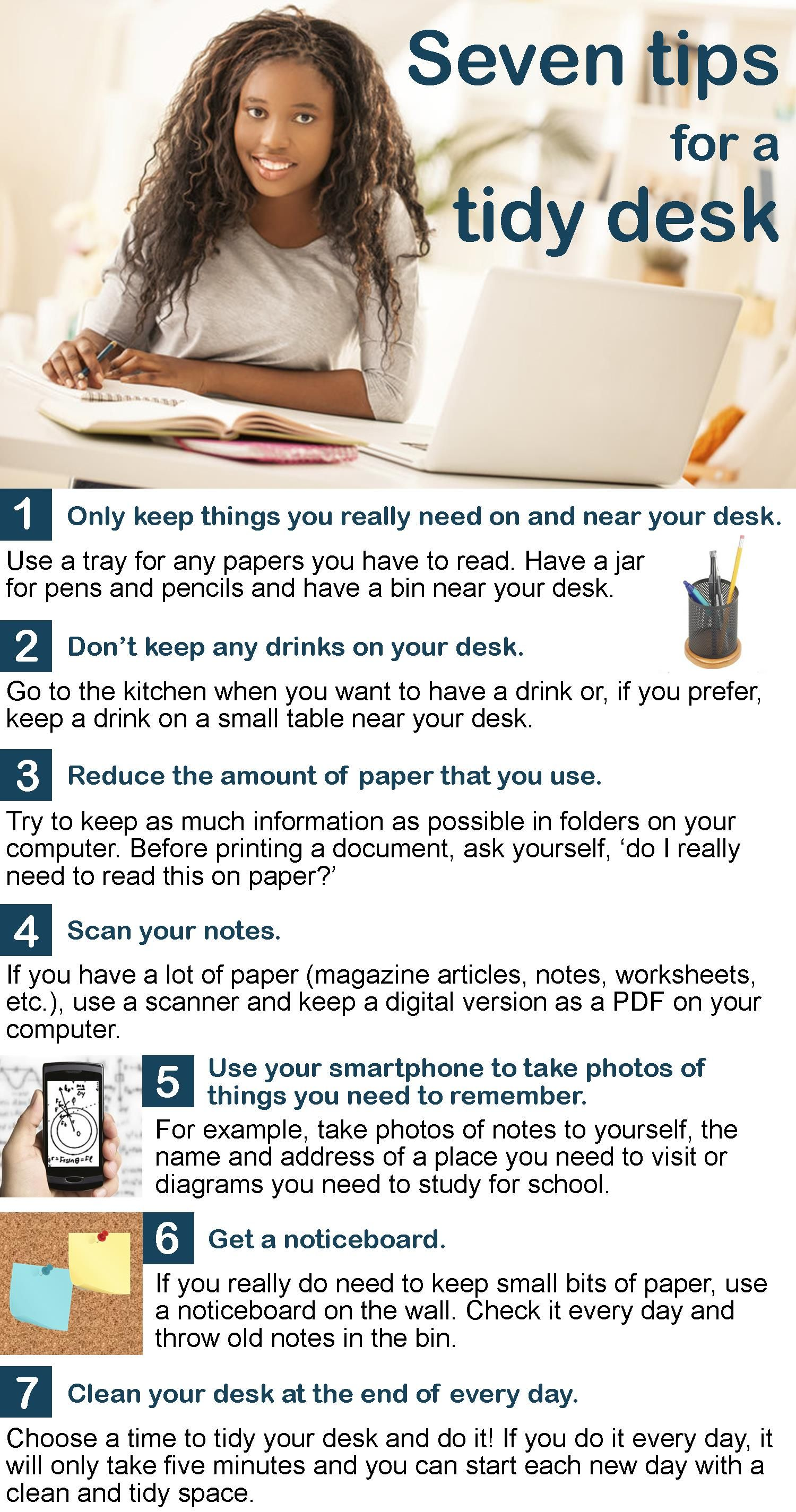 7 Tips For A Tidy Desk English Reading Reading Skills Practice Flirting Quotes For Her [ 2850 x 1500 Pixel ]