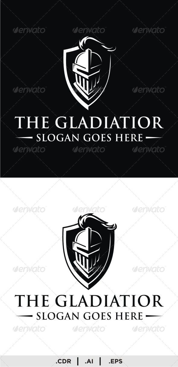 The Gladiator Logo Branding Design Logo Graphic Design Logo