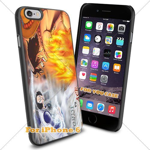 One Piece Ice&Fire Manga Anime Cartoon Movies Iphone Case, For-You-Case Iphone 6 Silicone Case Cover NEW fashionable Unique Design