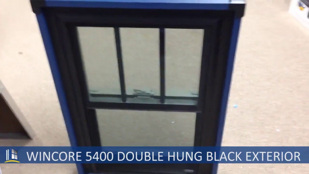 Wincore 5400 Double Hung Two Tone Black Exterior Black Exterior Double Hung Hanging