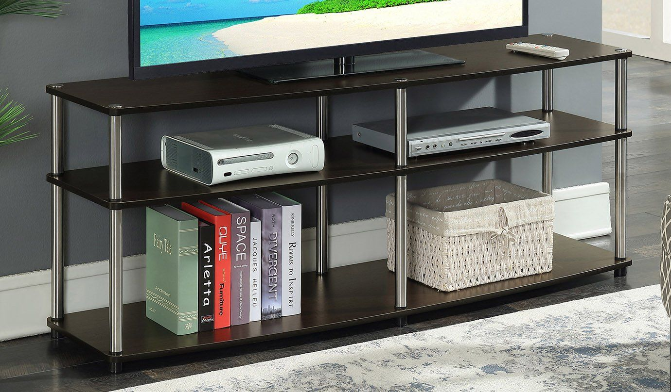 Convenience Concepts 131060es Designs2go 3 Tier Tv Stand 60 Espresso Rumah Mewah Rumah Kemewahan