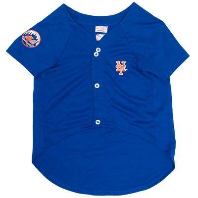 db7d8040a9d New York Mets Pets First Pet Baseball Jersey - Blue XL