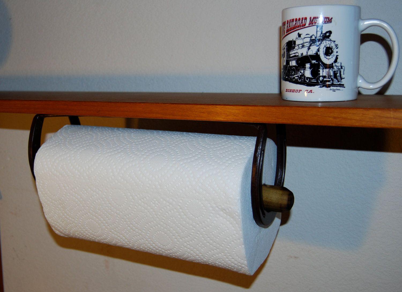 Horseshoe Paper Towel Holder, under counter kitchen, workshop ...