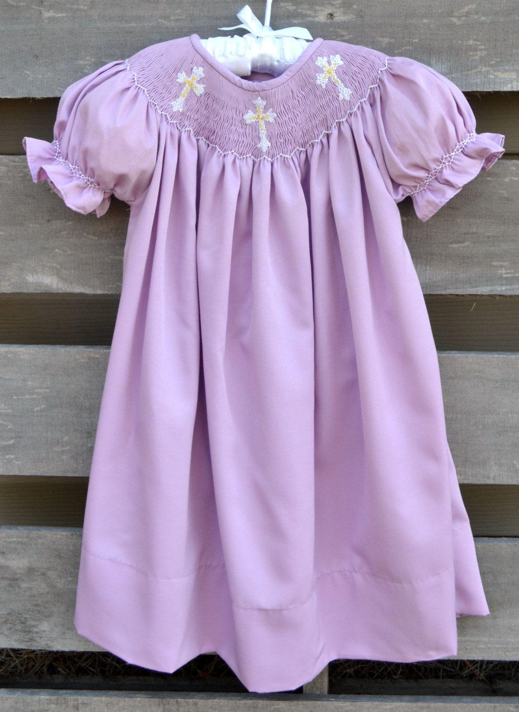 Smocked Girls Bishop Dress Purple Lavendar Cross Christ Church Easter Sunday 3m 6m 12m 18m 2t 3t 4t Newborn Dresses Girls Bishop Dress Pink Party Dresses [ 1500 x 1094 Pixel ]