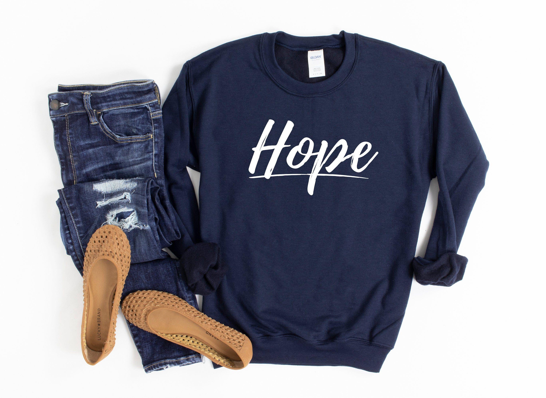 Hope Christian Crewneck Sweatshirt For Women Hebrews 10 23 Etsy In 2020 Crew Neck Sweatshirt Sweatshirts Base Shirt [ 2188 x 3000 Pixel ]
