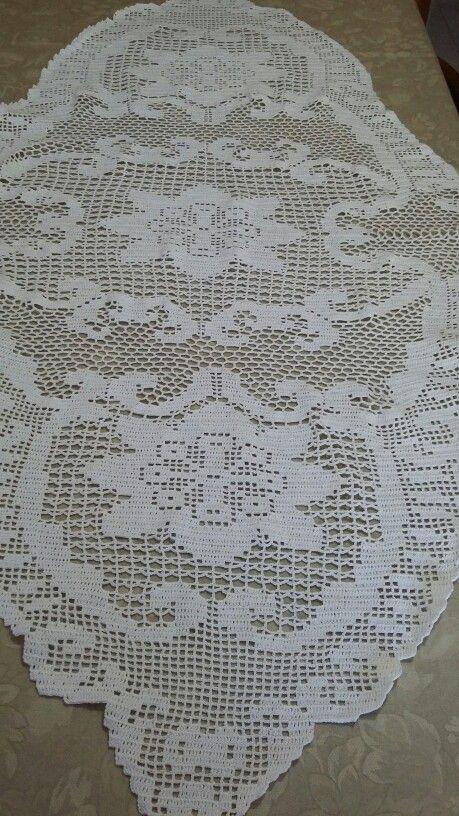 Striscia da tavolo patrizia crochet tablecloth filet crochet e crochet - Striscia uncinetto per tavolo ...