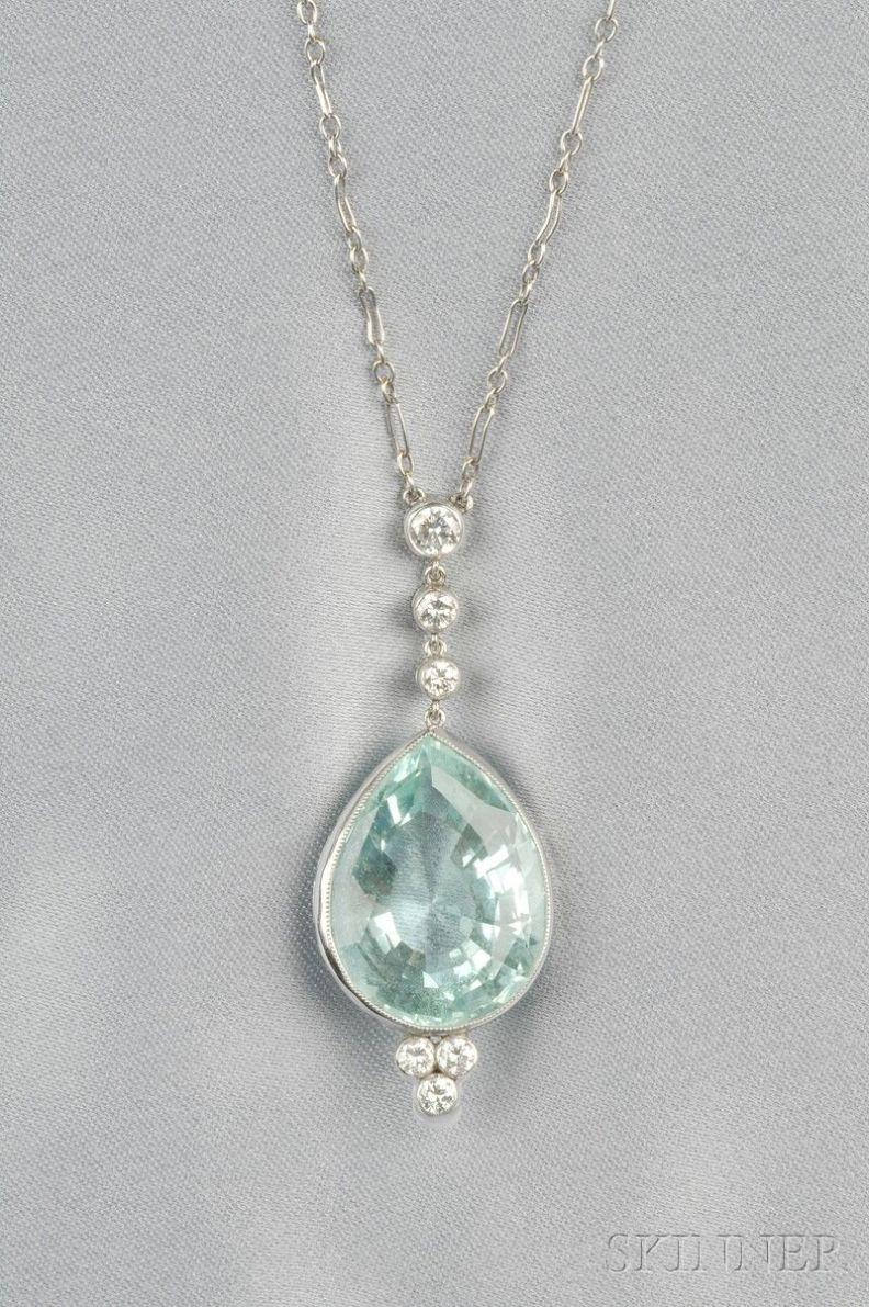 Pendant necklace large stone gold pendant heart designs for female