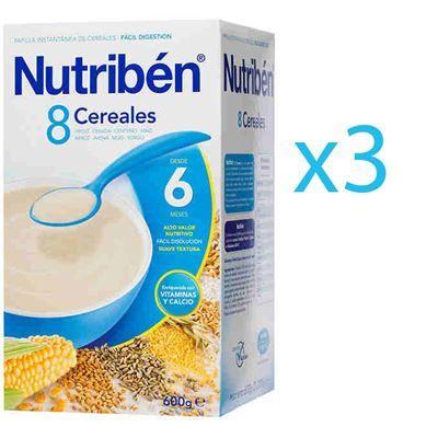 Nutribén Papilla 8 Cereales Pack 3 Uds Oferta Online Alimentacion Bebe Papa Cebada