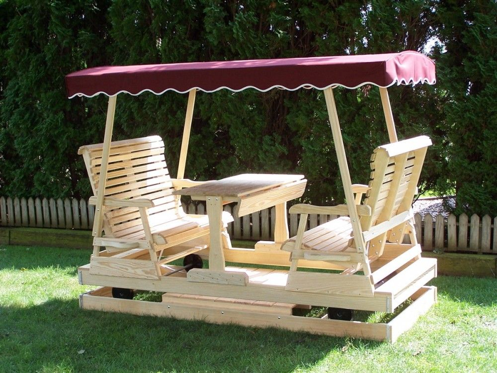 Keystone Glider 4 Person Wood Things To Build Diy Lawn Swing