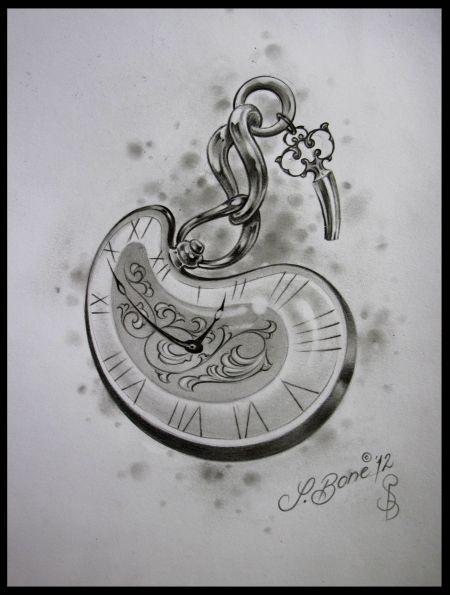 Taschenuhr zeichnung  Taschenuhr aus Gummi … | Pinteres…