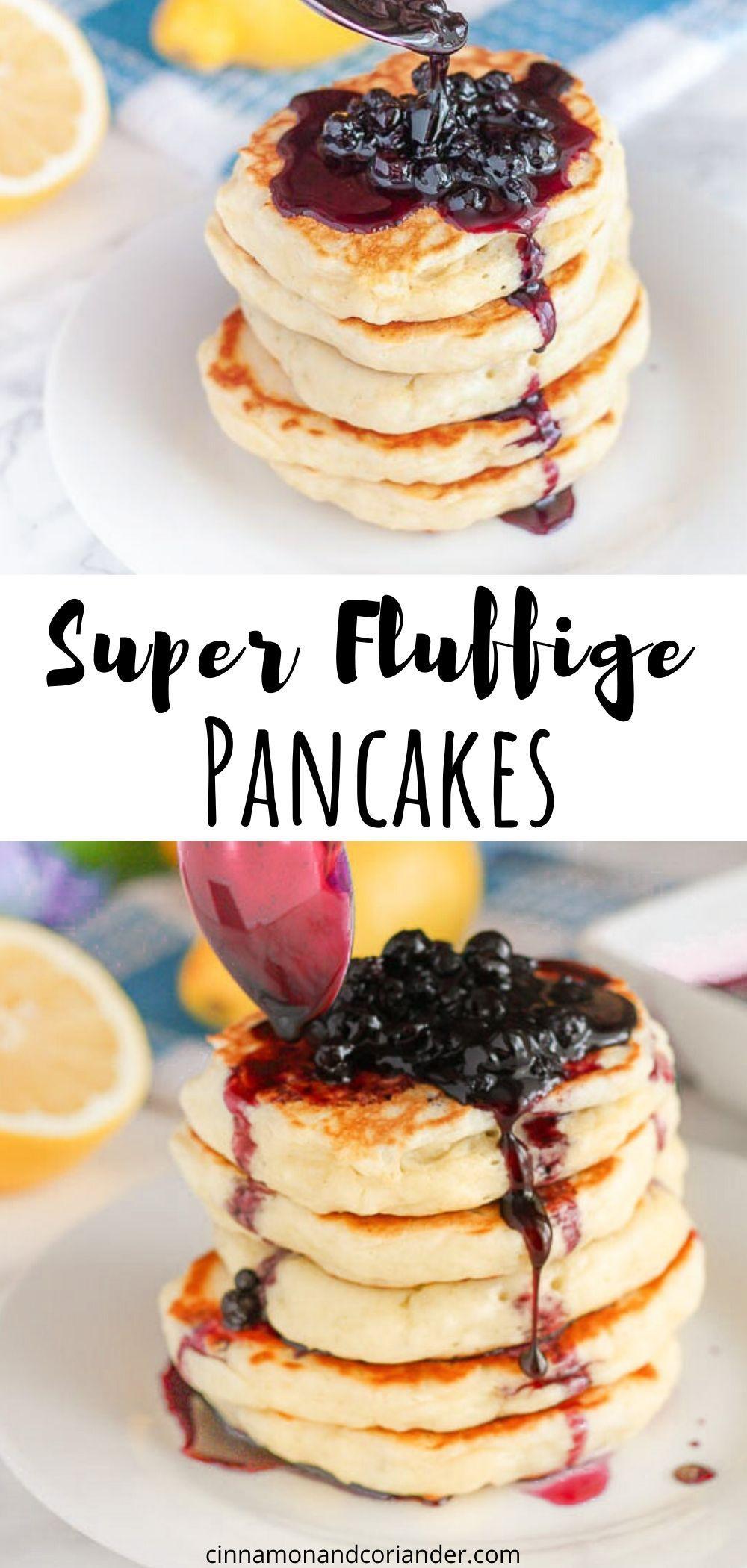 Blaubeer Pfannkuchen Rezept - Fluffige Pancakes