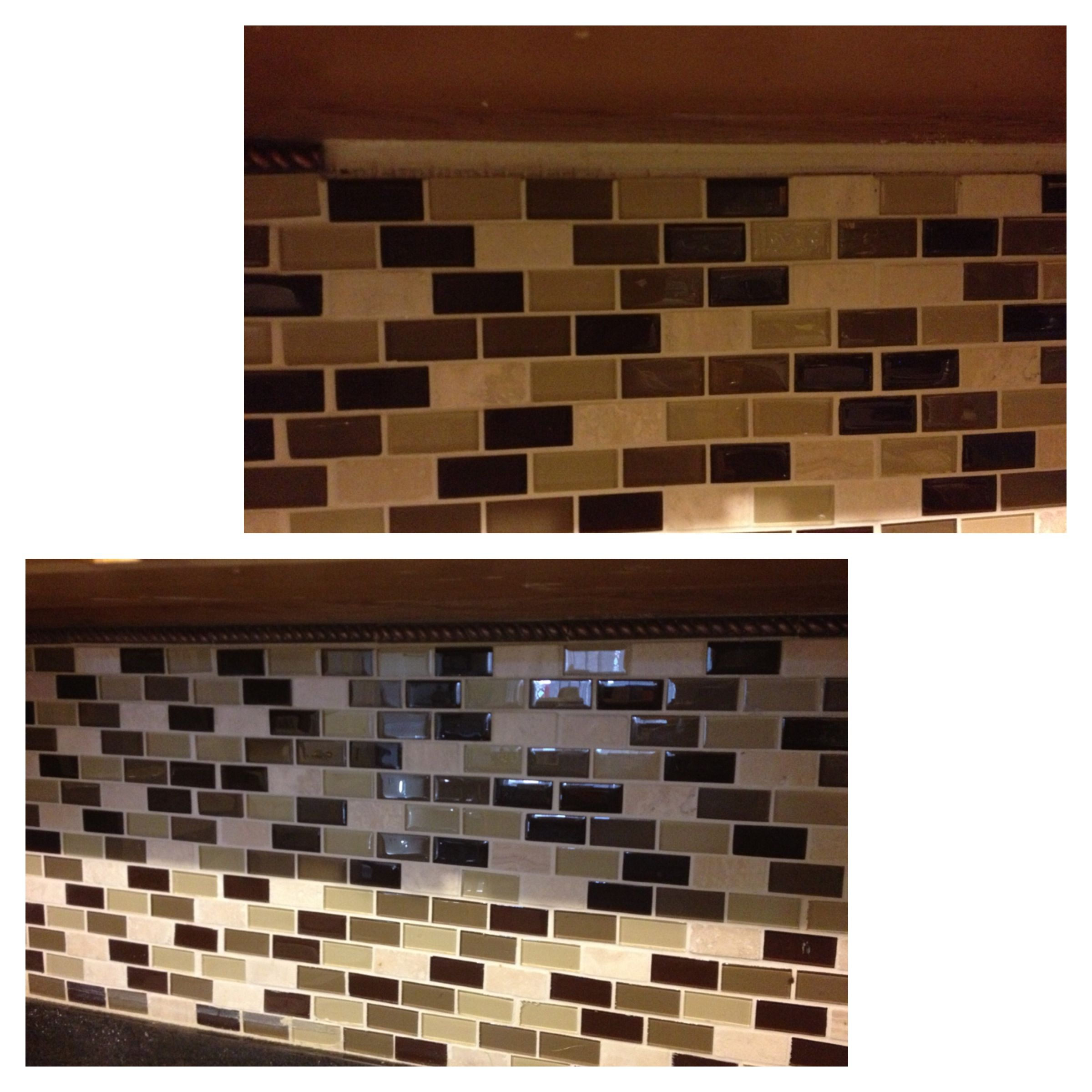 - DIY Backsplash Touch Up, Adding A Copper Brown Rope Border To Fill