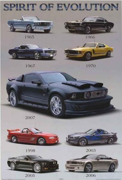 f23f579345d A great poster of the legendary Ford Mustang! Boss models from 1965 to  2006. Perfect for the garage or man cave. Fully licensed - 2005. Ships fast.