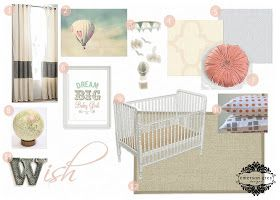 Emerson Grey Designs : Nursery Interior Designer: Dream Big {coral, mint and grey nursery}