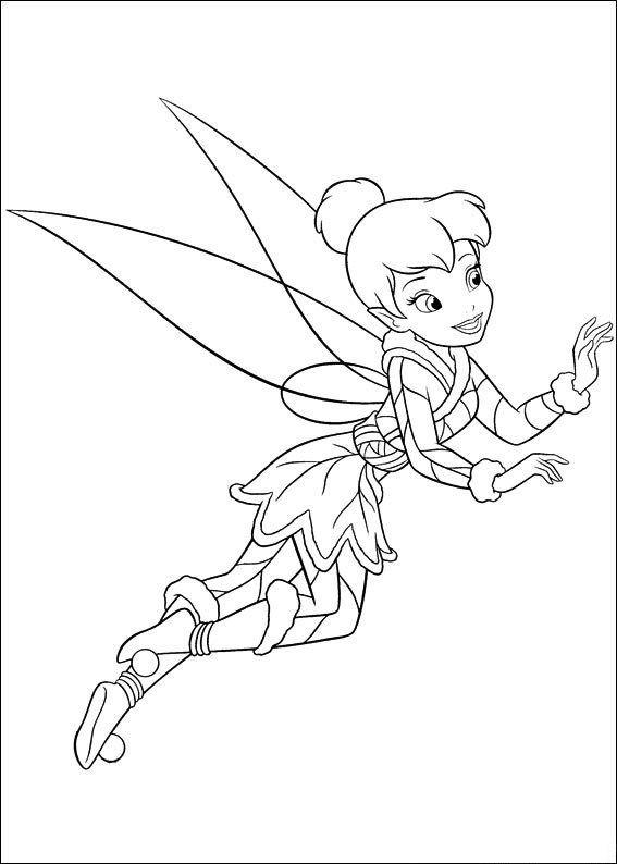 Muitos Desenhos Da Fada Sininho Disney Para Colorir Pintar