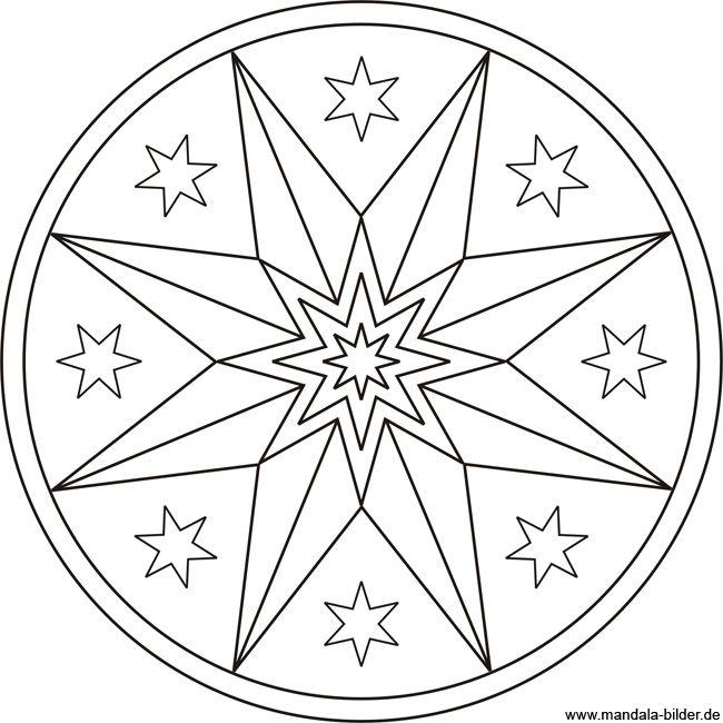 Mandala Malvorlage Weihnachtsstern Wetter Pinterest