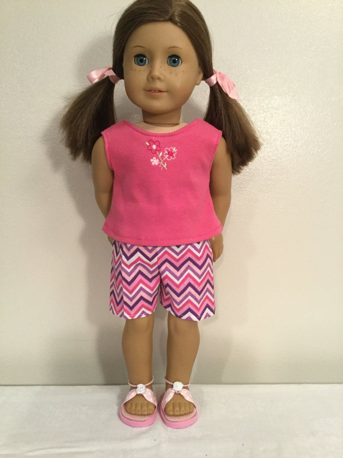 """Doll Clothes CHERRY PINK COTTON TANK TOP Fits18/"""" American Girl Dolls"""