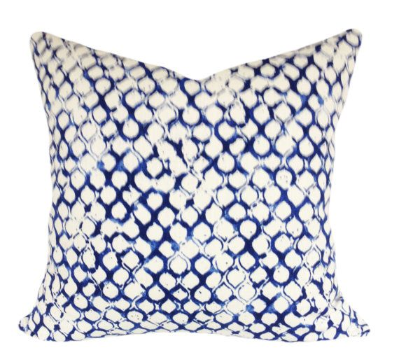 John Robshaw Blue Geometric Fabric For Pillow Covers By Stunning Blue Decorative Pillows Modern