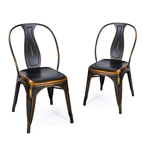 Edeco Metal Stacking Dining Chairs, Vintage Barstool Edeco Http://www.amazon