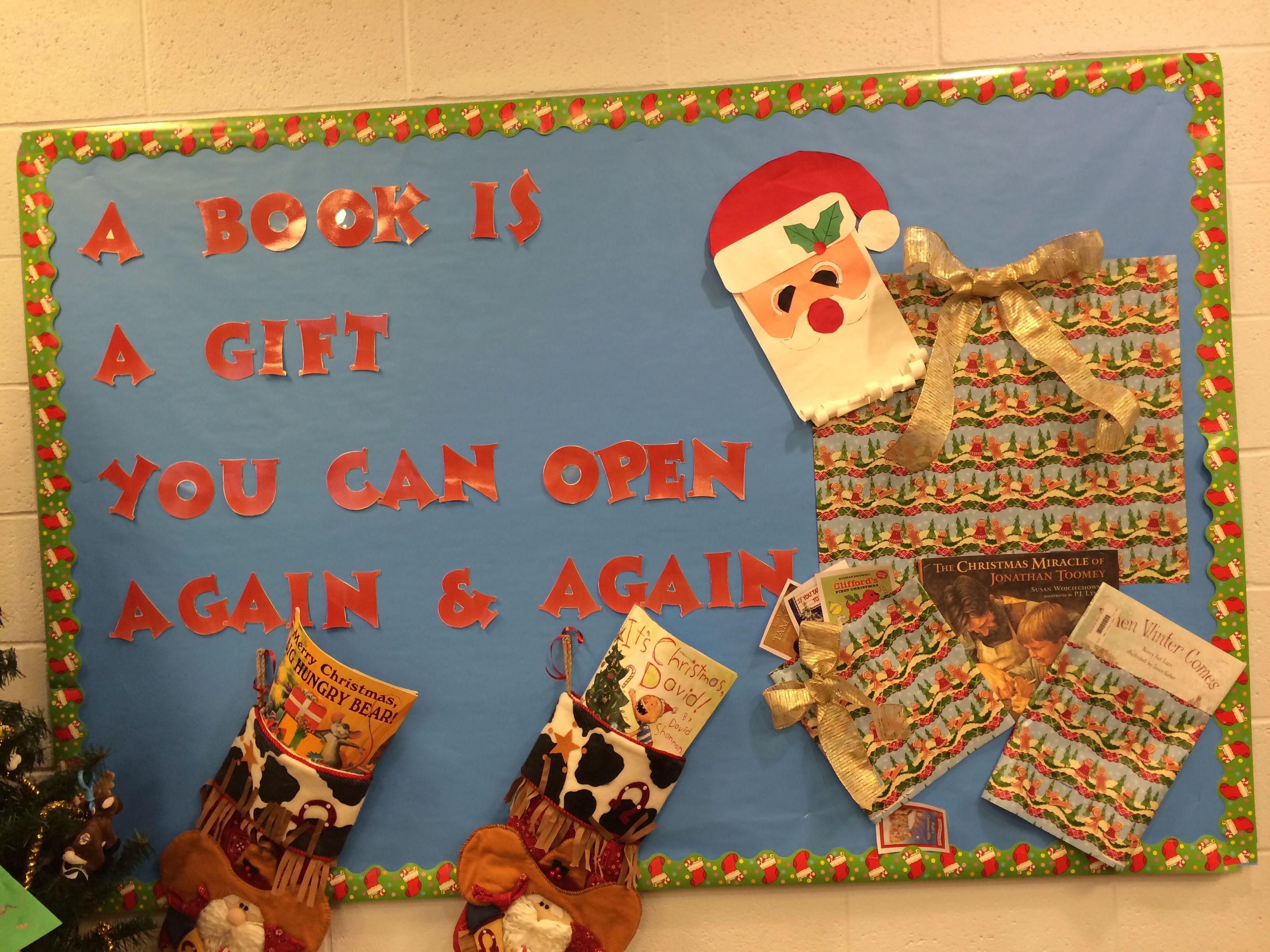 Christmas Library Bulletin Board