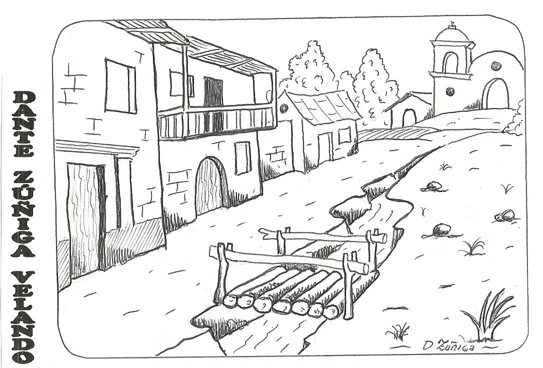 Paisajes Para Colorear Paisajes Andinos Landscape Drawings Free