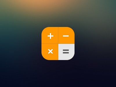 iOS 7 Calculator Icon : Reimagined | icons & buttons | Ios 7 icons