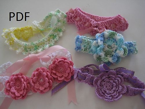 New Set of Crochet & Knit Headbands pattern by Myrtie Edwards