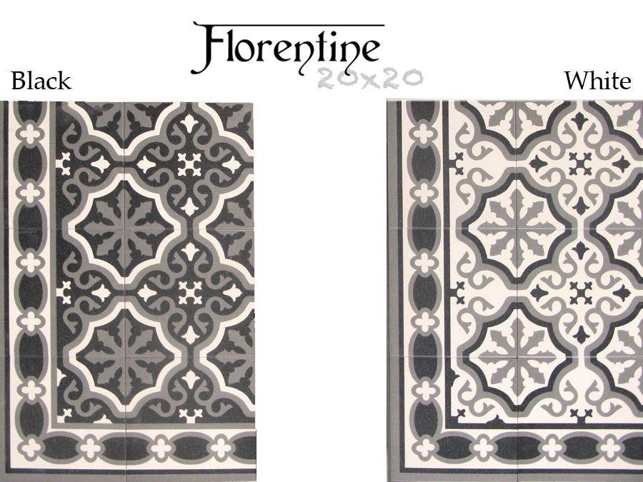 carrelage aspect carreau ciment 20x20 serie florentine mainzu couleurs noires la gamme et ciment. Black Bedroom Furniture Sets. Home Design Ideas