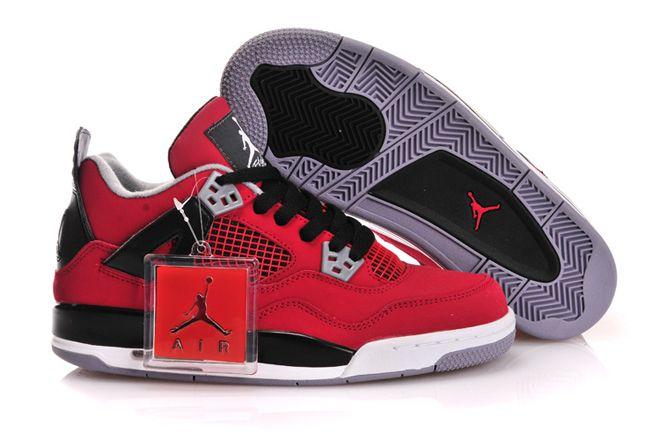 best service 26c9d 5f9cc Womens Jordan Nike Sport Shoes Retro 4 Gs Fire Red ...