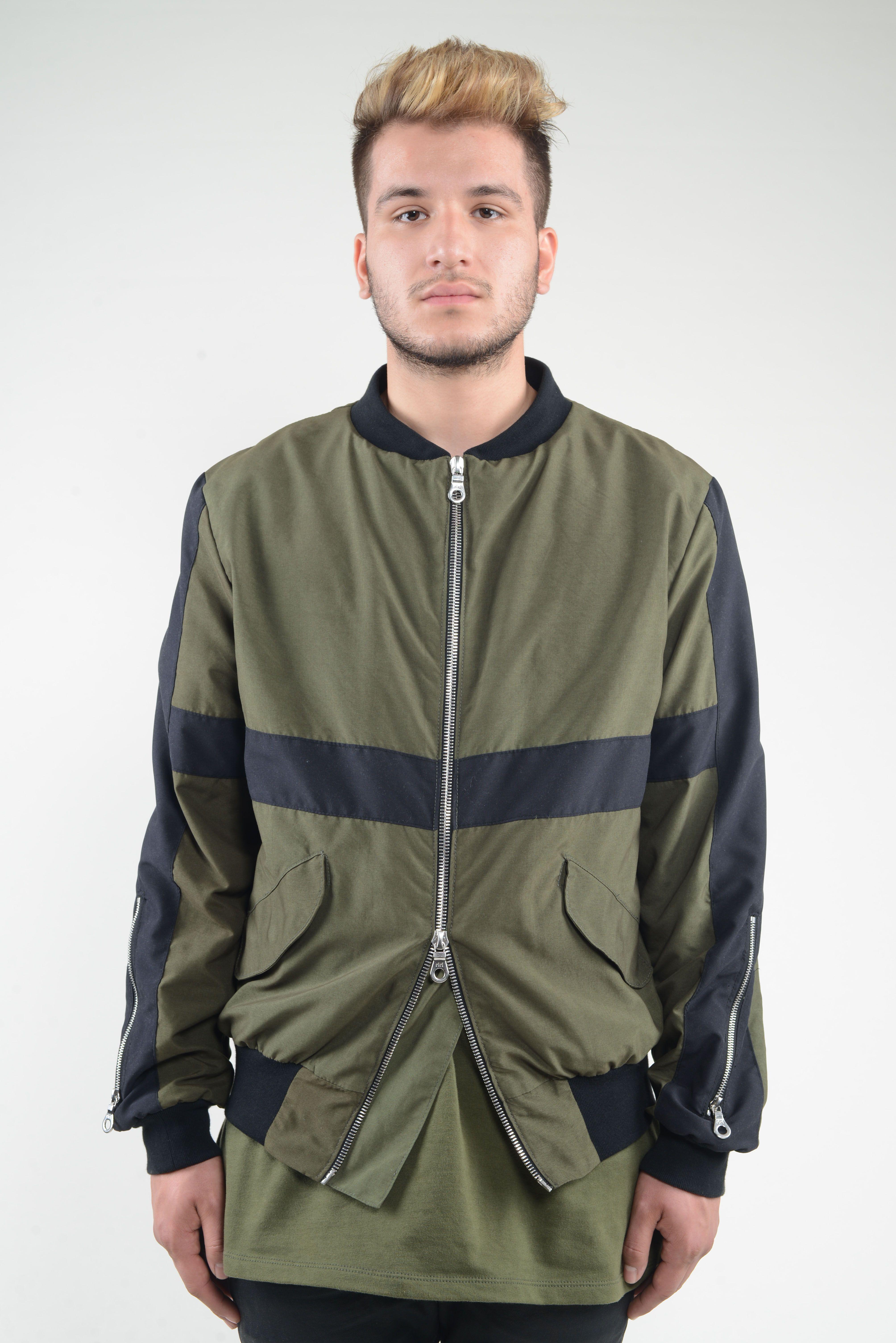 HM Bomber Jacket (Army Green) Army green bomber jacket